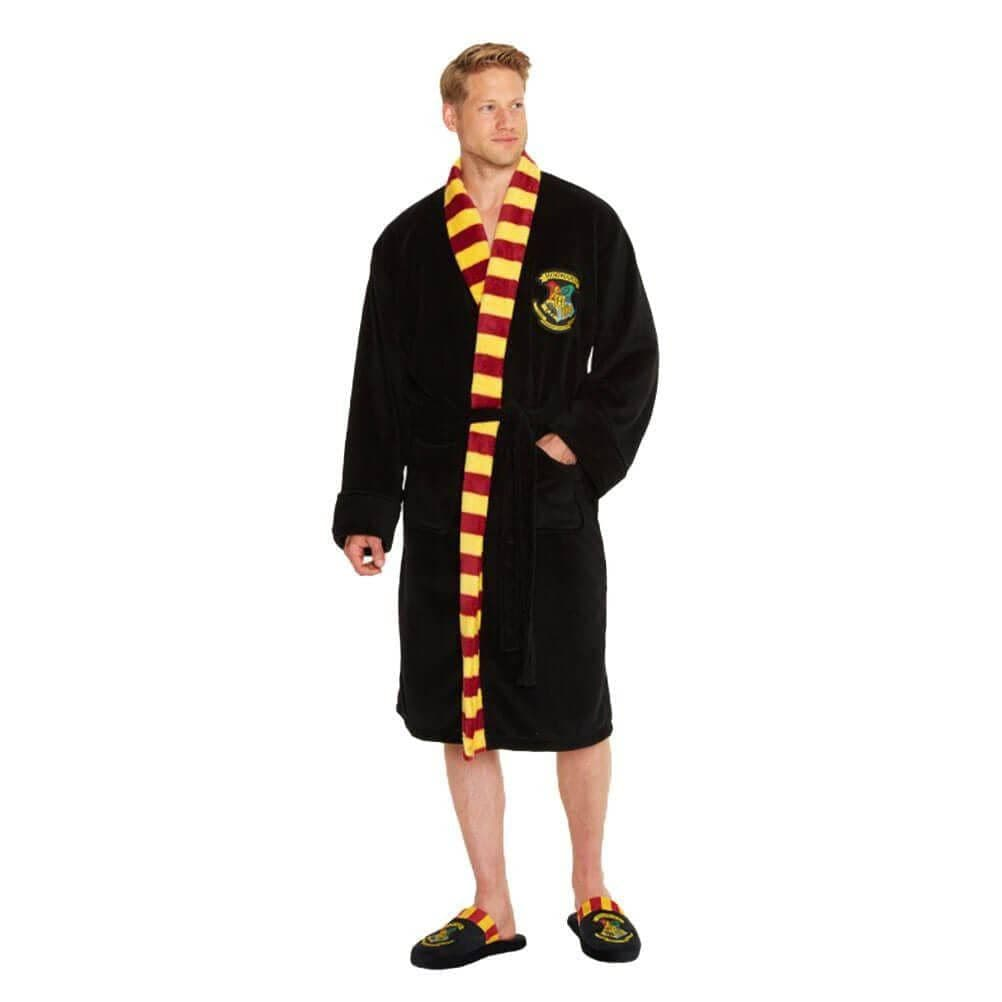 Men's Harry Potter Hogwarts Crest Adult Dressing Gown