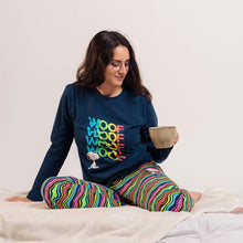 Load image into Gallery viewer, Women's Peanuts Snoopy 'Woof' Cuffed Pyjama Set