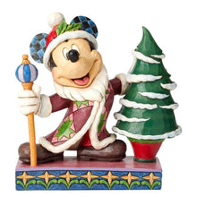 Load image into Gallery viewer, Disney Traditions Mickey Mouse Father Christmas with Tree Figurine