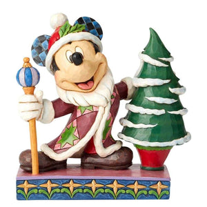 Disney Traditions Mickey Mouse Father Christmas with Tree Figurine