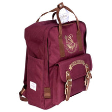 Load image into Gallery viewer, Front Side View of the Premium Harry Potter Hogwarts Backpack