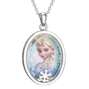 Frozen Elsa Silver Plated Shaker Pendant Necklace