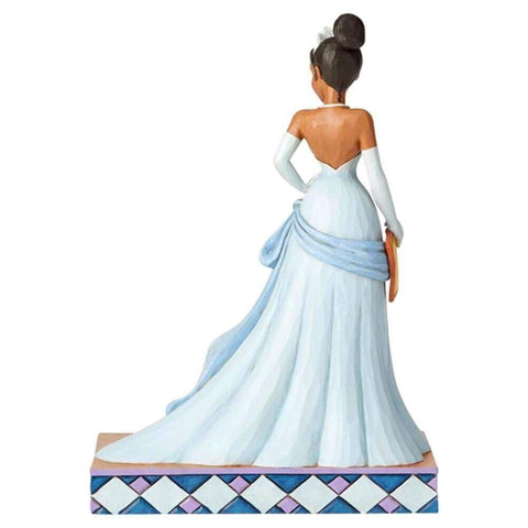 Back View of Disney Traditions Tiana Princess Passion Figurine