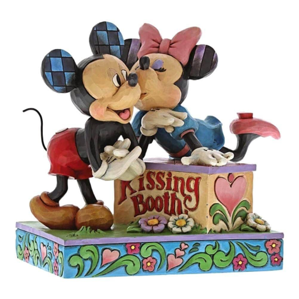 Disney Traditions Mickey and Minnie Mouse Kissing Booth Figurine