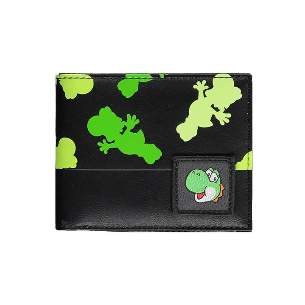 Super Mario Yoshi All Over Print Bi-Fold Wallet.