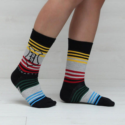 Harry Potter Hogwarts and Icons Socks Gift Set (3 Pairs)