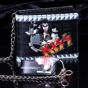 KISS The Demon Premium Wallet with Chain.