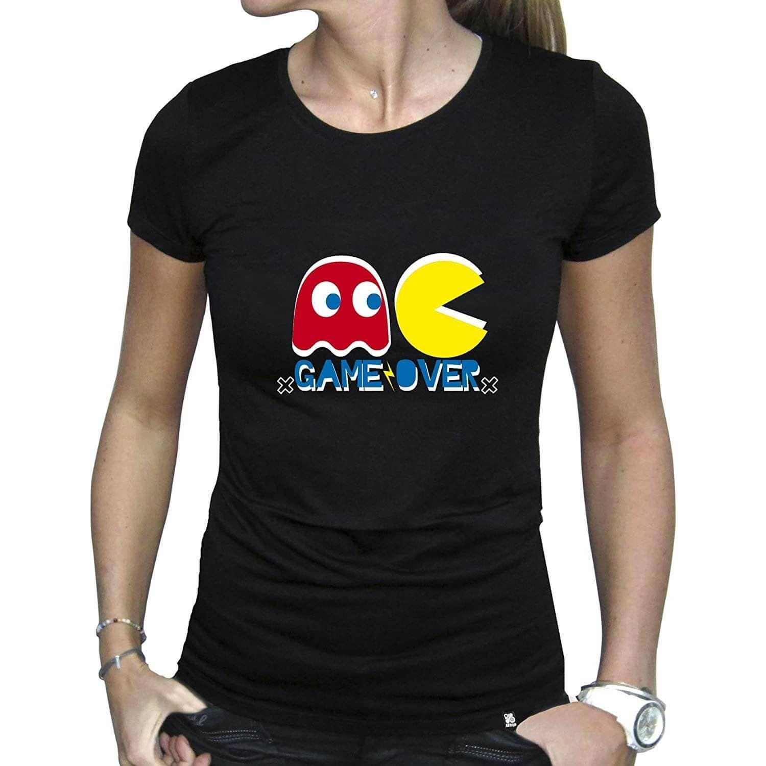 Women's Pac-Man Game Over Fitted T-Shirt