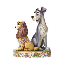 Load image into Gallery viewer, Disney Traditions Lady and The Tramp 'Opposites Attract' Figurine.