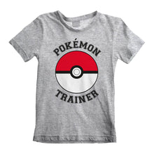 Load image into Gallery viewer, Children's Pokemon Trainer Grey T-Shirt