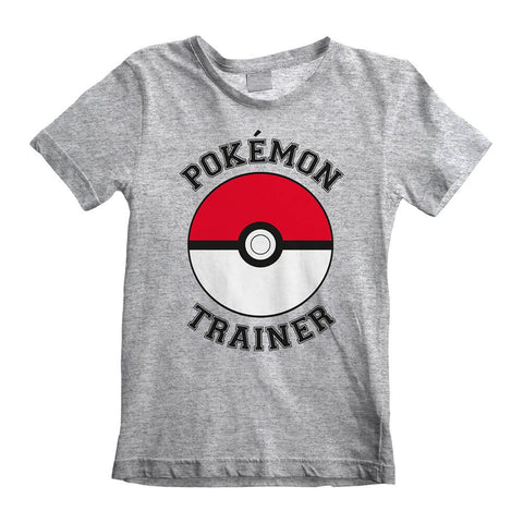 Children's Pokemon Trainer Grey T-Shirt