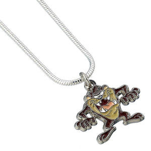 Looney Tunes Silver Plated Taz Character Necklace.