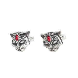 Alchemy Gothic Sacred Cat Pewter Stud Earrings