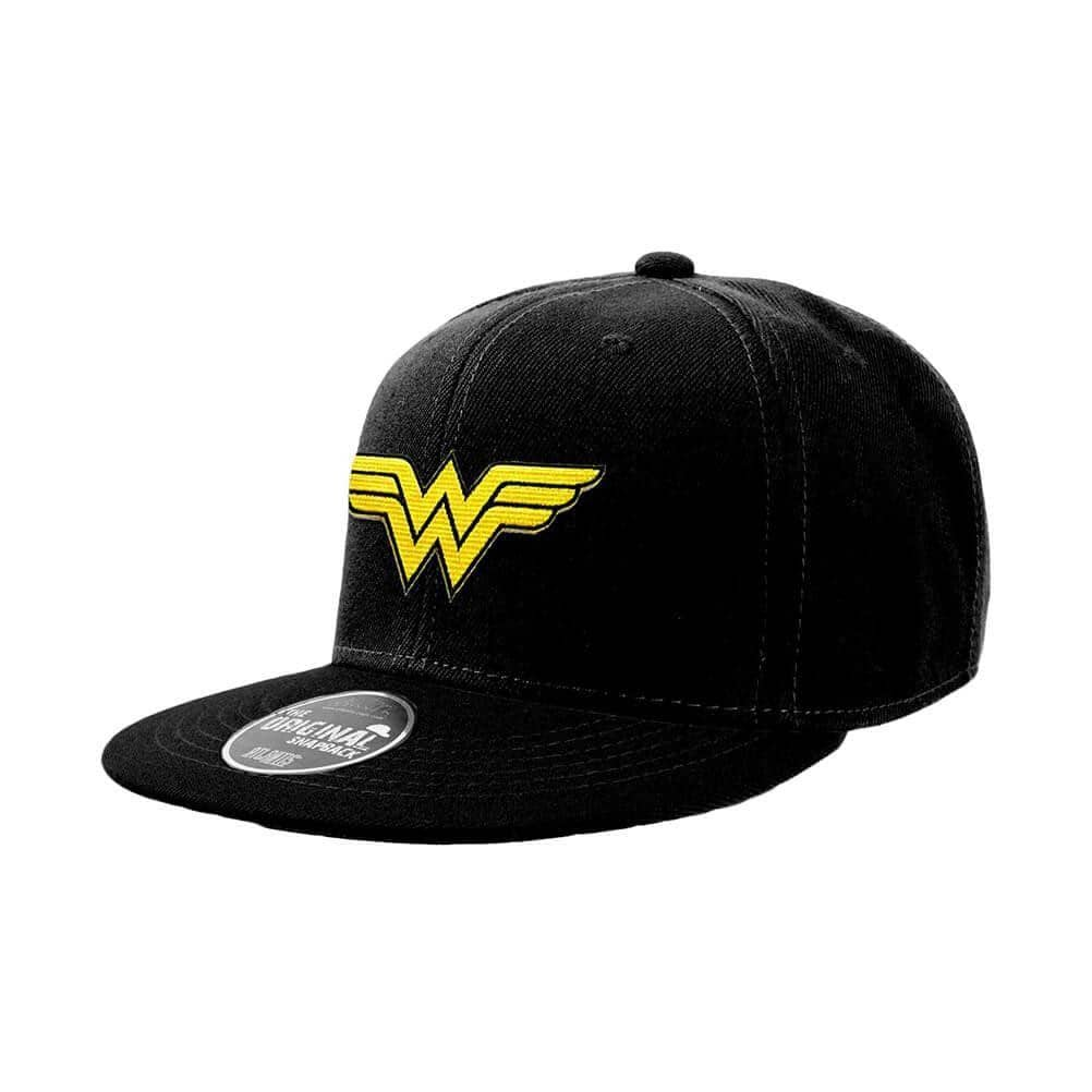 DC Comics Black Wonder Woman Logo Snapback Cap