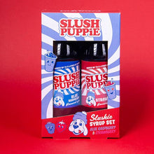 Load image into Gallery viewer, Slush Puppie Blue Raspberry and Strawberry Syrup Set