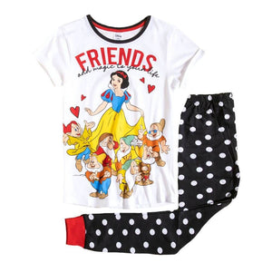 Women's Snow White 'Friends Add Magic To Your Life' Pyjama Set.