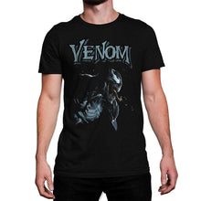 Load image into Gallery viewer, Men's Marvel Venom Profile Black T-Shirt