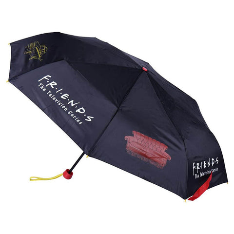 Friends Logo and Icons Black Compact Umbrella