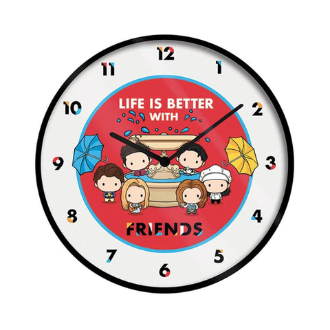 Friends Fountain Chibi Wall Clock