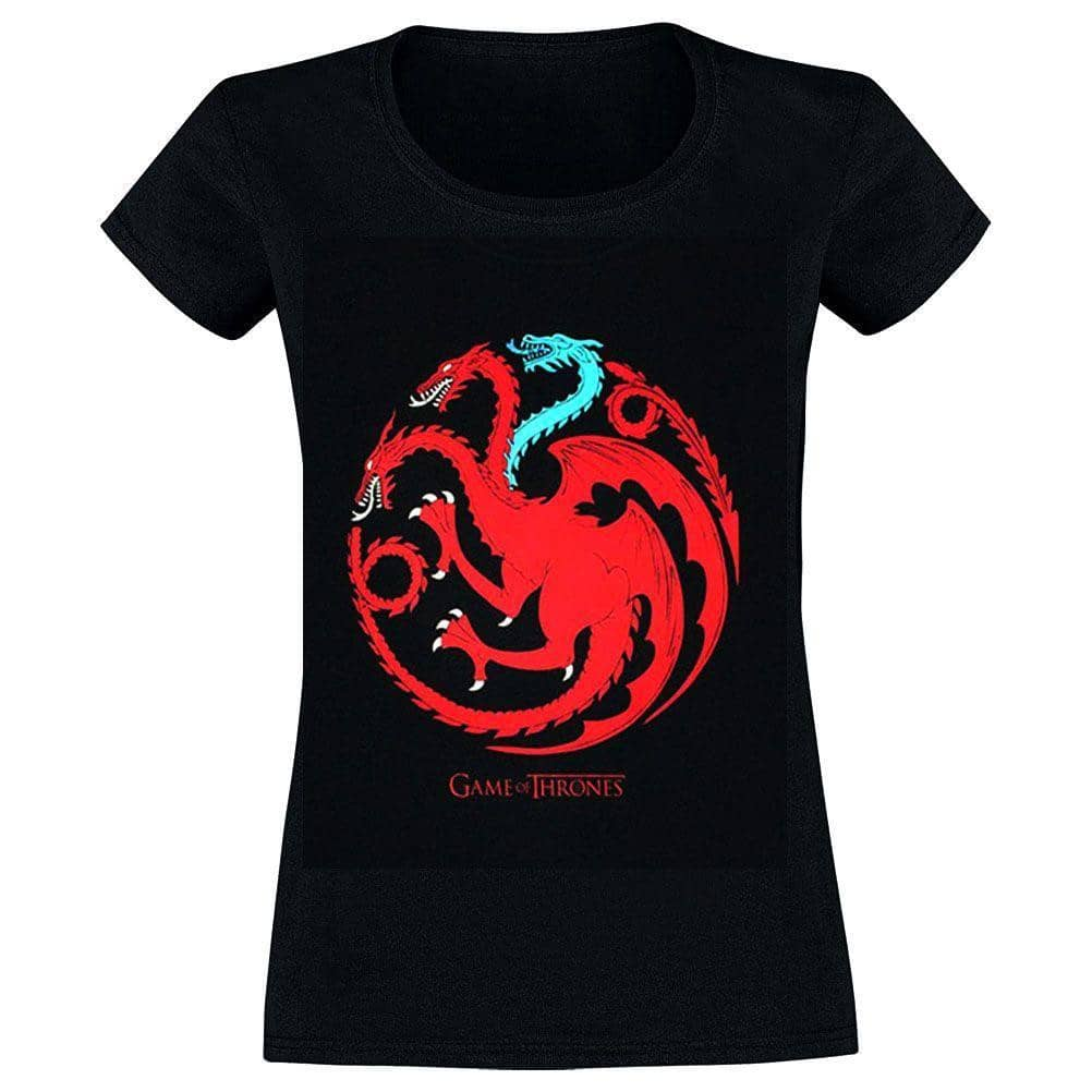 Women's Game of Thrones Targaryen Ice Dragon T-Shirt