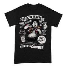 Load image into Gallery viewer, Men's The Goonies Chunk Truffle Shuffle Black Crew Neck T-Shirt
