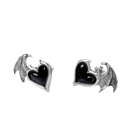 Alchemy Gothic Blacksoul Pewter Stud Earrings.