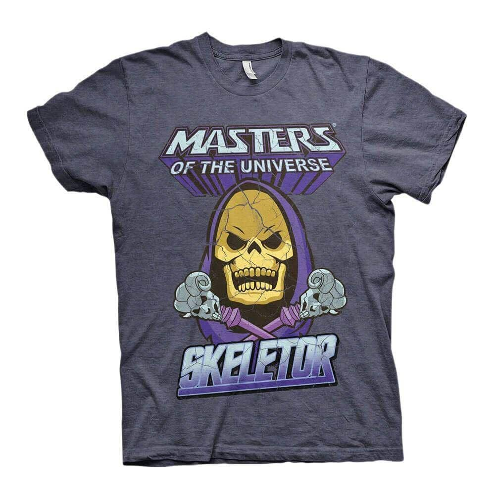 Men's Skeletor Character Blue and Purple Crew Neck T-Shirt