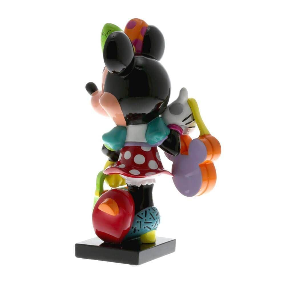 Back Left View of the Disney Britto Minnie Mouse Fashionista Figurine