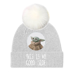 The Mandalorian The Child 'This Is My Good Side' Bobble Hat