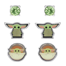 Load image into Gallery viewer, Star Wars The Mandalorian The Child Character Stud Earrings Set