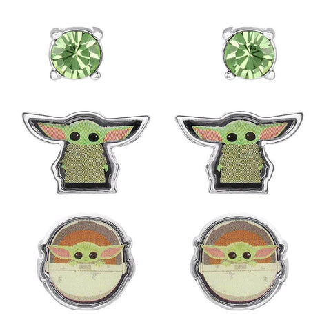Star Wars The Mandalorian The Child Character Stud Earrings Set