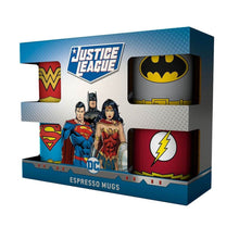 Load image into Gallery viewer, DC Comics Justice League Suits Mini Mug Set