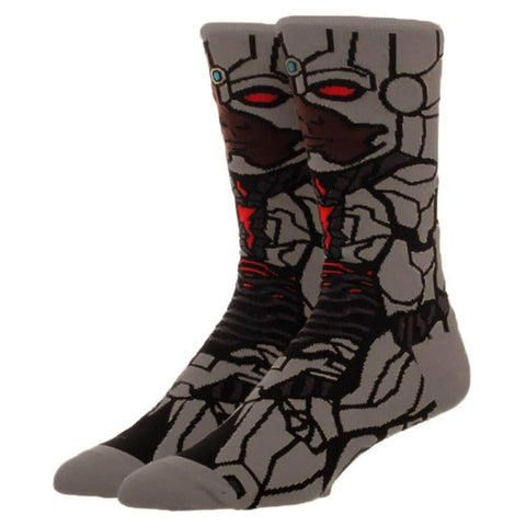 Justice League Cyborg Character Crew Socks.