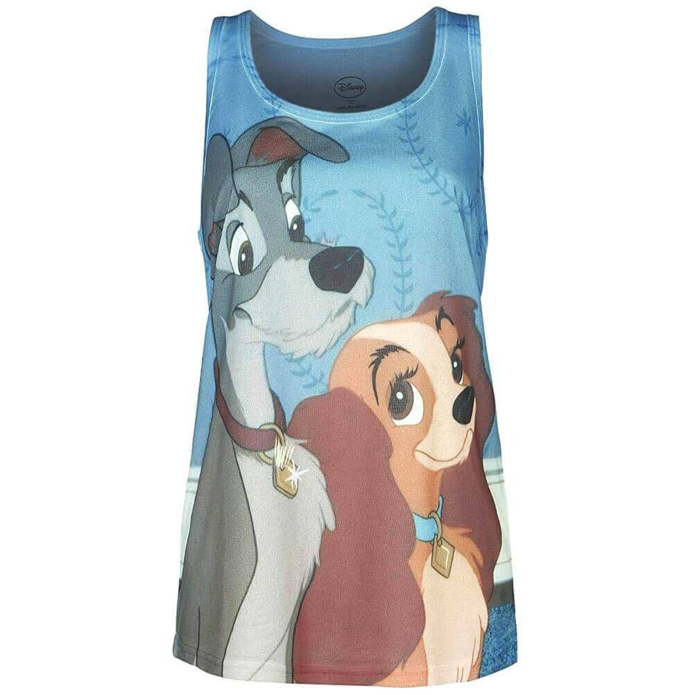 Front of Women's Disney Lady and the Tramp Design Vest Top