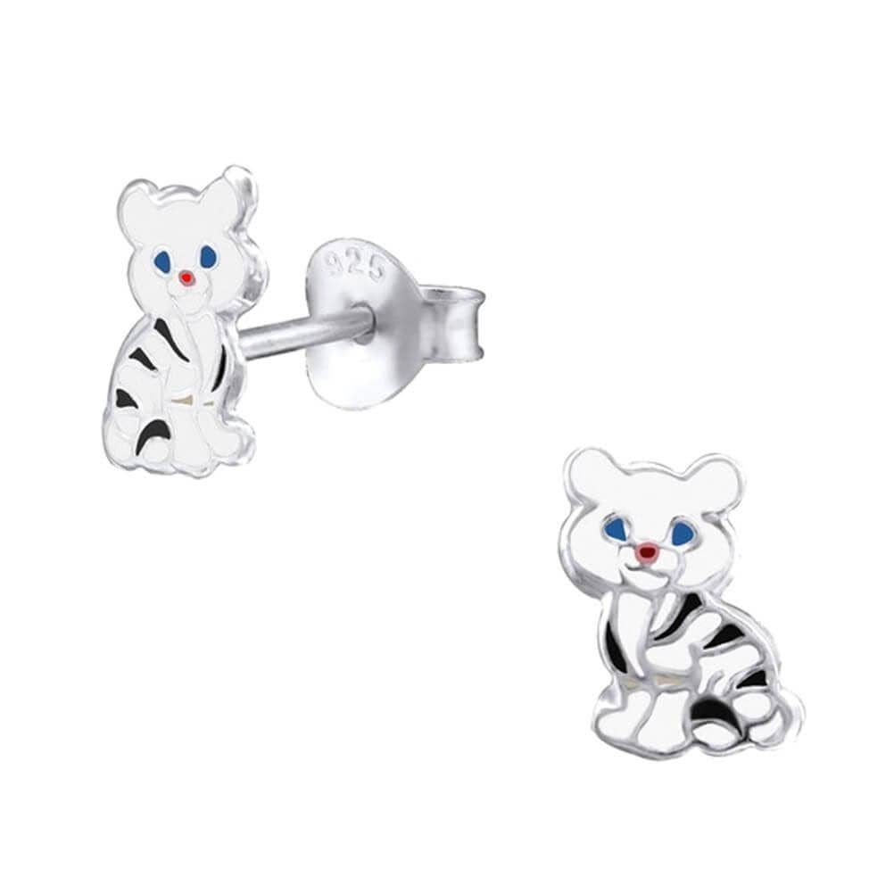 Children's Sterling Silver Cat Stud Earrings