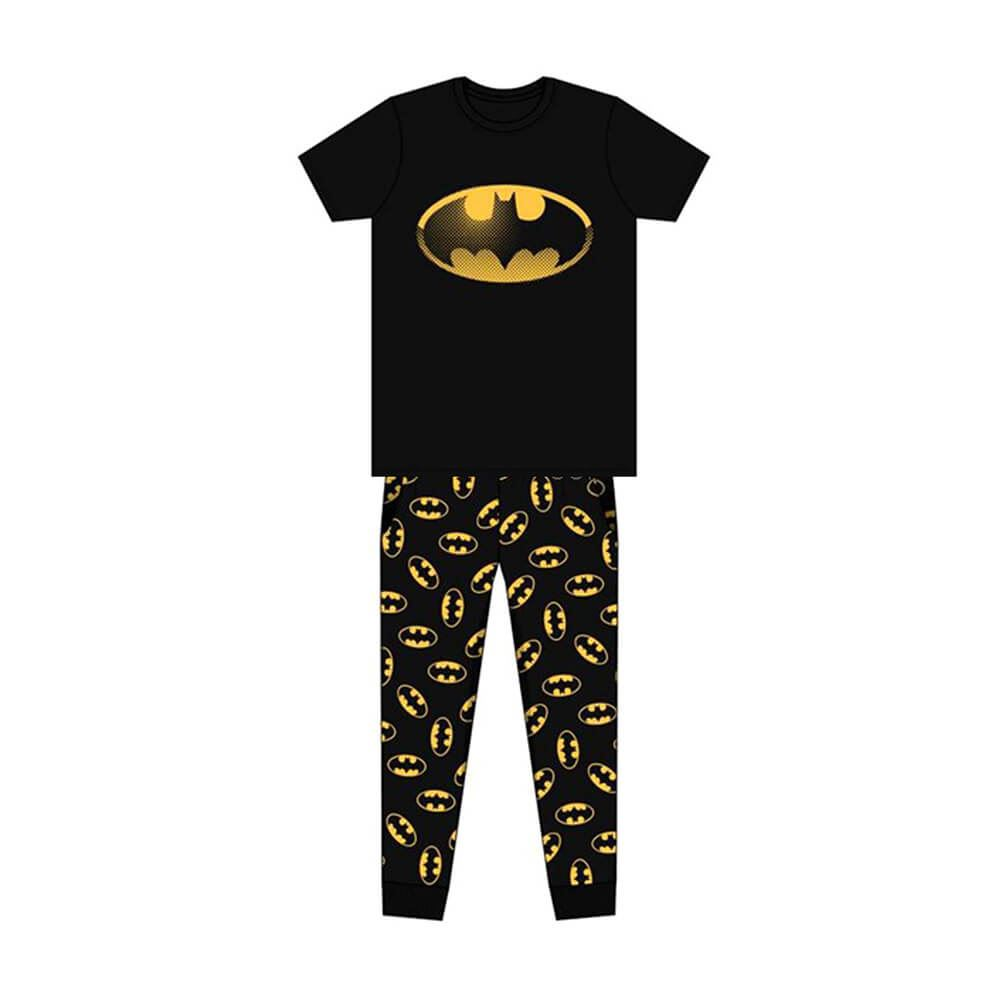 Men's DC Comics Batman Classic Logo Printed Pyjama Set.