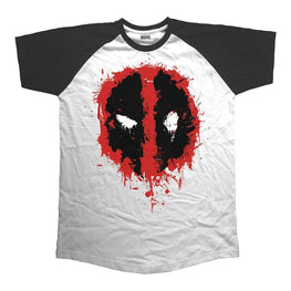 Men's Deadpool Splat Icon Raglan T-Shirt