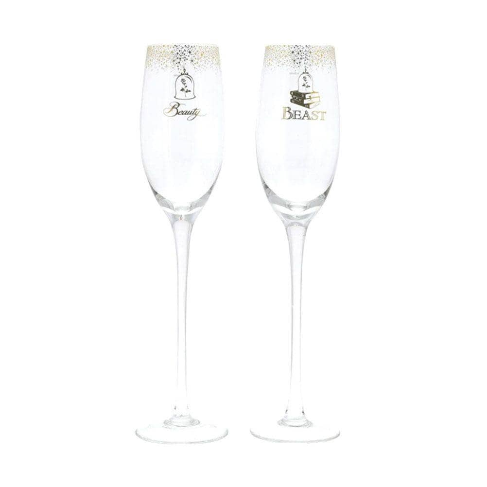 Set of 2 Beauty and the Beast Belle Character Champagne Glasses
