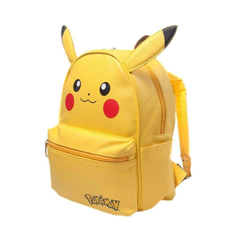 Front Side View of Pokemon Character Backpack with Front Zip Pocket