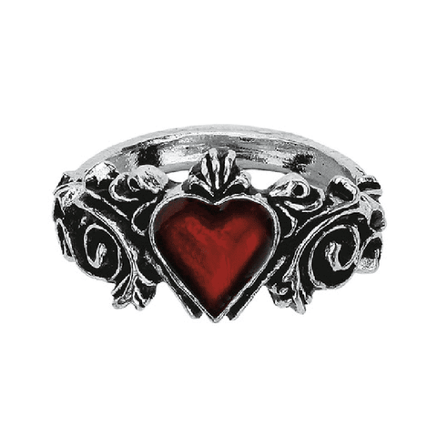 Alchemy Gothic Betrothal Pewter Ring