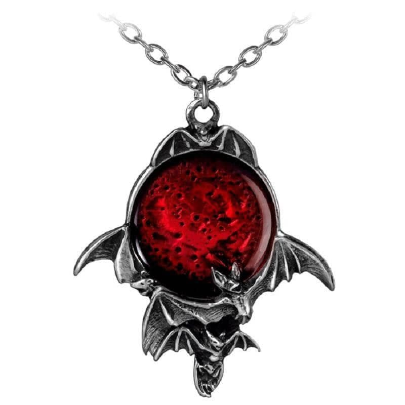 Alchemy Gothic Blood Moon Pendant