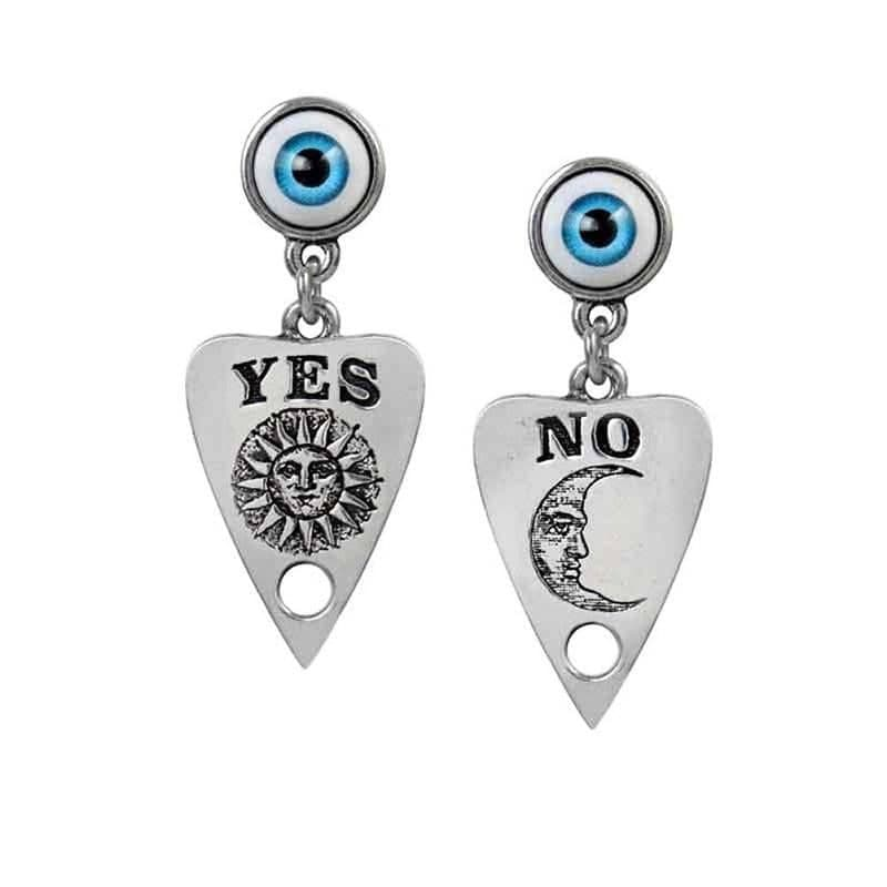 Alchemy Gothic Ouija Planchette Pewter Earrings