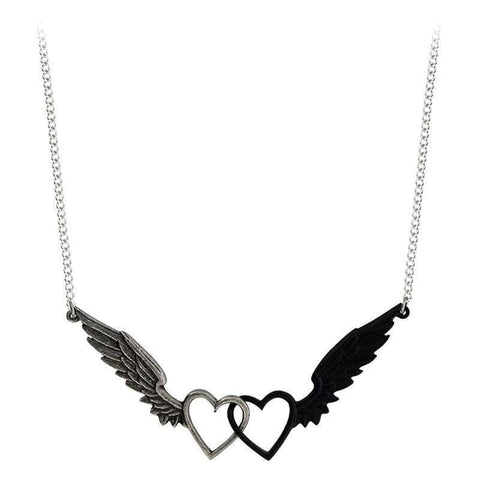 Alchemy Gothic Passio: Wings Of Love Pewter Pendant.