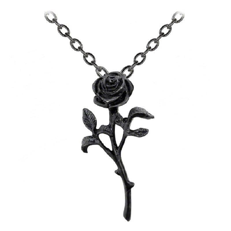Alchemy Gothic Romance of the Black Rose Pendant