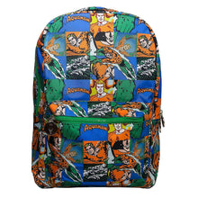 Load image into Gallery viewer, Multi-Coloured Retro Style Aquaman Sealife Comic Strip Backpack - Front View