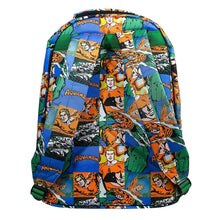 Load image into Gallery viewer, Multi-Coloured Retro Style Aquaman Sealife Comic Strip Backpack - Back View