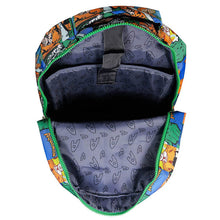 Load image into Gallery viewer, Inside Laptop Compartment of Aquaman Sealife Comic Strip Backpack