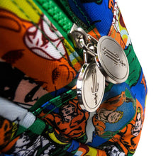 Load image into Gallery viewer, Aquaman Logo Zipper Tabs & Design Detail of the Sealife Comic Strip Backpack