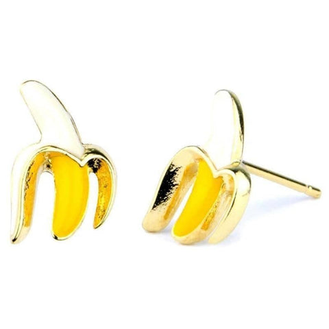 Banana Enamel Stud Earrings