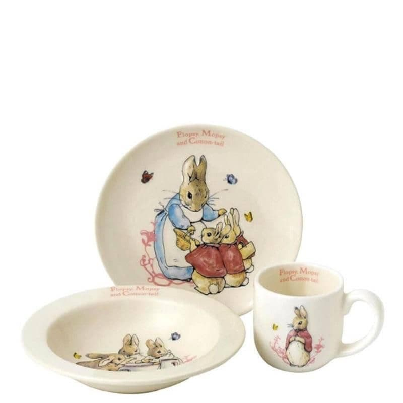 Official Children/'s Beatrix Potter Flopsy Bunny 5-Piece Organic Dinner Set